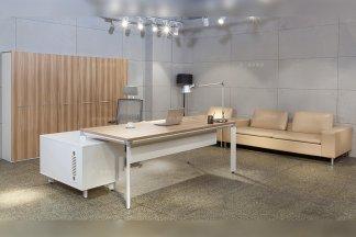 高端办公万博手机网页厂家现代时尚实木办公桌椅书柜组合