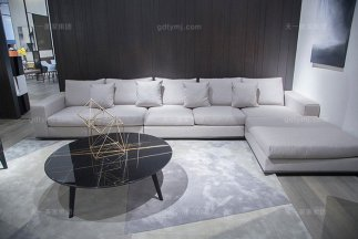 意大利极简奢风现代轻奢万博手机网页客厅转角沙发组合