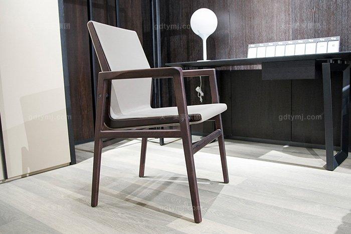 意大利风格现代极简约简奢万博手机网页卧室时尚书椅休闲椅