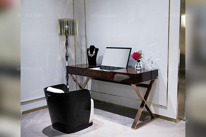 高端后现代轻奢万博手机网页品牌卧室时尚梳妆台妆椅组合