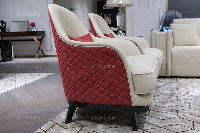 高端奢华别墅万博手机网页品牌轻奢后现代风真皮客厅沙发组合休闲椅