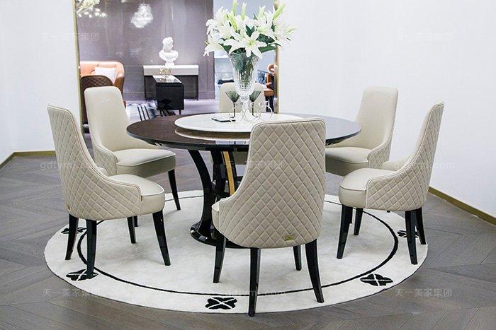 高端奢华万博手机网页品牌别墅后现代轻奢餐厅时尚餐桌椅组合