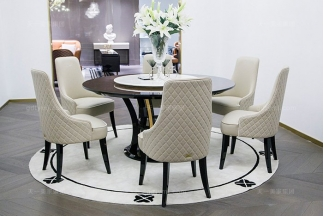 高端奢华家具品牌别墅后现代轻奢餐厅时尚餐桌椅组合