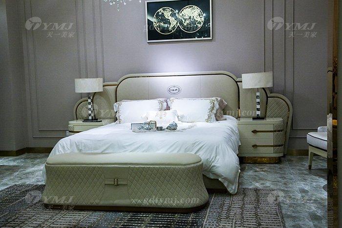 高端奢华别墅万博手机网页轻奢品牌卧室后现代双人大床组合