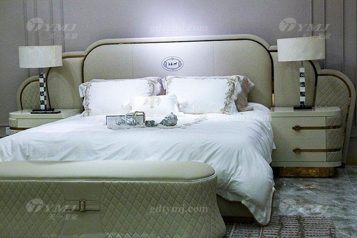 高端奢华别墅万博手机网页轻奢品牌卧室后现代双人大床组合床