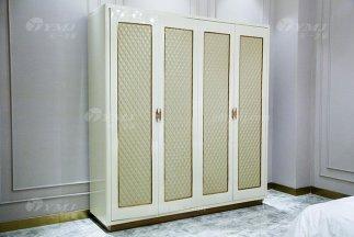 高端别墅家具品牌轻奢后现代风卧室四门衣柜