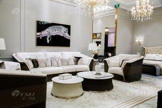 高端奢华万博手机网页别墅品牌轻奢后现代客厅真皮布艺沙发组合