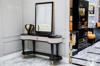 高端轻奢后现代家具品牌别墅家具过道时尚真皮玄关台