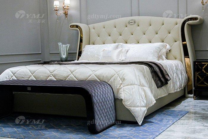高端奢华别墅万博手机网页品牌轻奢后现代卧室真皮大床系列床