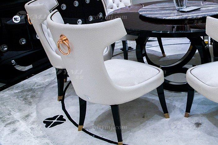 高端奢华品牌万博手机网页后现代轻奢餐厅时尚山水紫石面餐桌椅餐椅