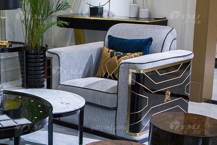 高端奢华万博手机网页品牌别墅后现代轻奢万博手机网页客厅真皮沙发组合单人沙发