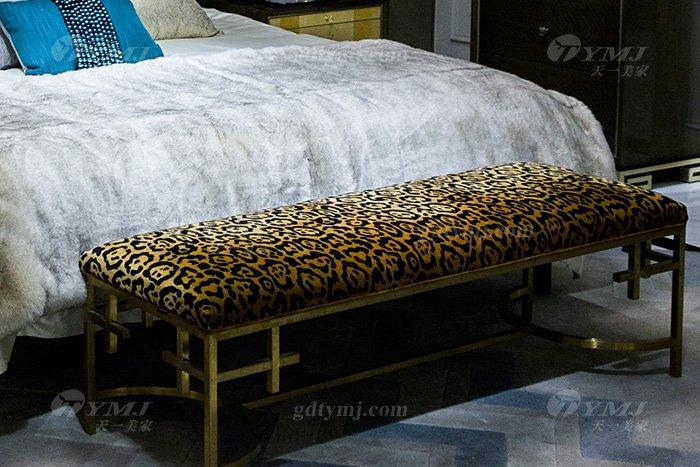高端奢华别墅家具品牌现代轻奢时尚实木镶彩贝大床组合