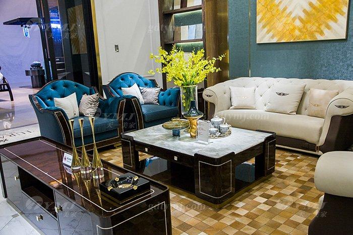 高端奢华会所家具别墅品牌家具轻奢现代时尚沙发组合