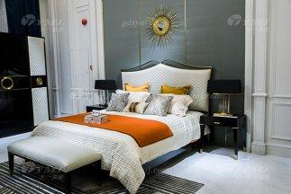 高端奢华豪宅家具88bf必发娱乐会所家具品牌轻奢现代风卧室实木黑檀大床组合