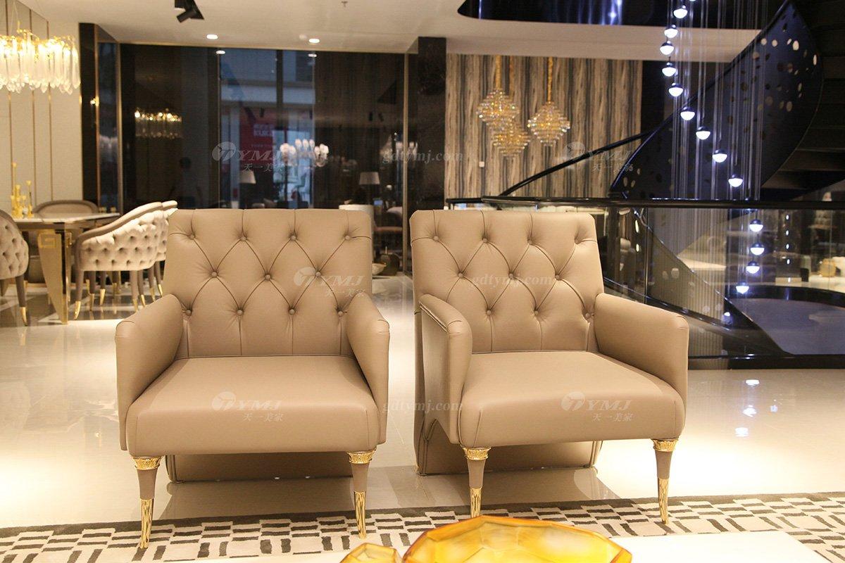 意大利100%纯进口家具时尚轻奢别墅会所家具品牌真皮客厅沙发组合单品