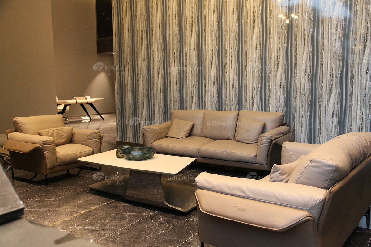 奢华意大利100%纯进口家具时尚轻奢别墅会所家具品牌客厅真皮软包沙发组合