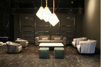 高端奢华100%意大利纯进口家具时尚轻奢别墅家具品牌客厅五金布艺软包沙发组合