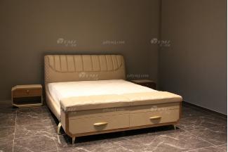 奢华高端100%纯意大利进口家具品牌时尚轻奢别墅家具卧室双人大床系列