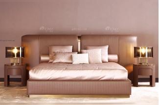 时尚轻奢意大利100%纯进口家具别墅豪宅家具品牌卧室双人大床