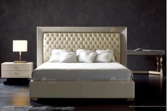 奢华100%意大利纯进口家具时尚轻奢家具品牌卧室双人大床