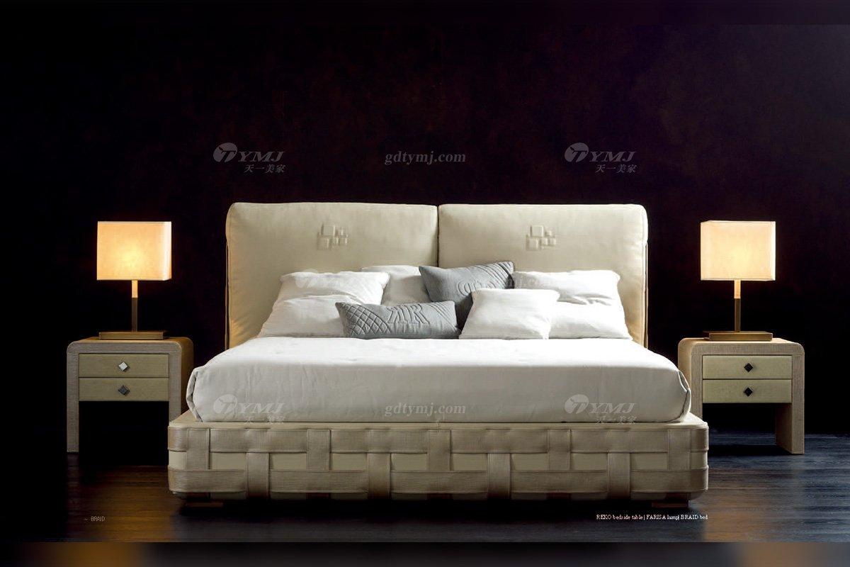 时尚轻奢100%意大利纯进口家具品牌别墅家具卧室简约大床