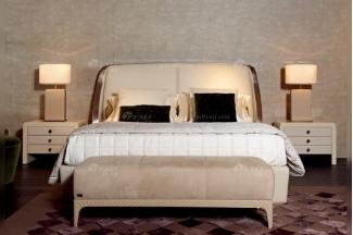 时尚轻奢家具意大利100%纯进口别墅豪华家具卧室双人床