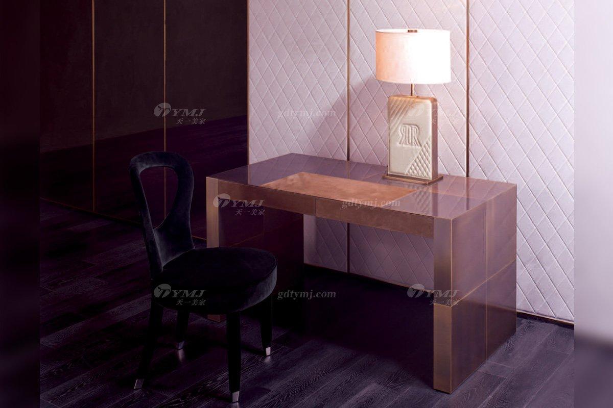 轻奢时尚别墅家具意大利100%纯进口品牌会所豪宅家具妆台椅组合