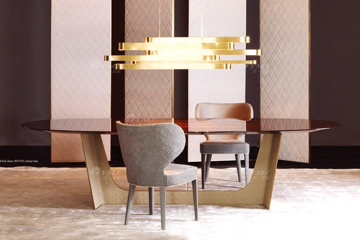 时尚轻奢家具100%意大利纯进口品牌高端实木餐桌椅