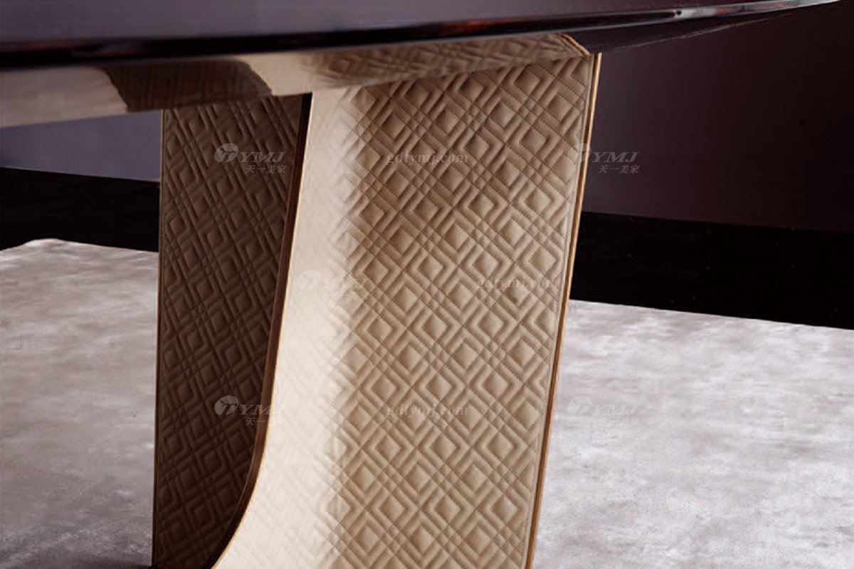 时尚轻奢家具100%意大利纯进口品牌高端实木餐桌椅餐桌细节