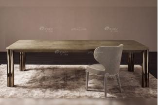 意大利100%纯进口时尚轻奢万博手机网页品牌别墅万博手机网页奢华五金餐桌椅组合