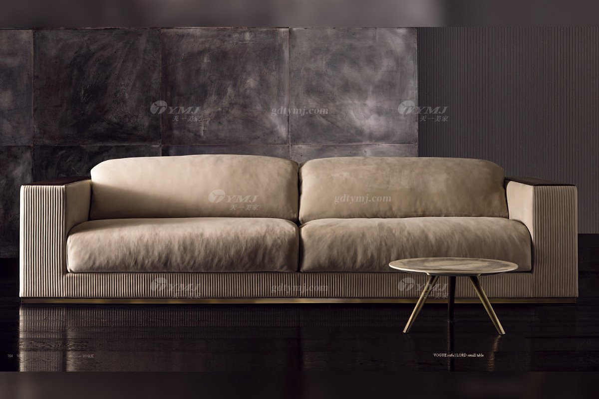 时尚轻奢家具品牌意大利100%纯进口别墅家具客厅真皮沙发沙发