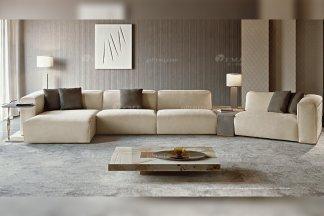 时尚轻奢家具意大利100%纯进口别墅家具品牌客厅高弹海棉布艺转角沙发系列!