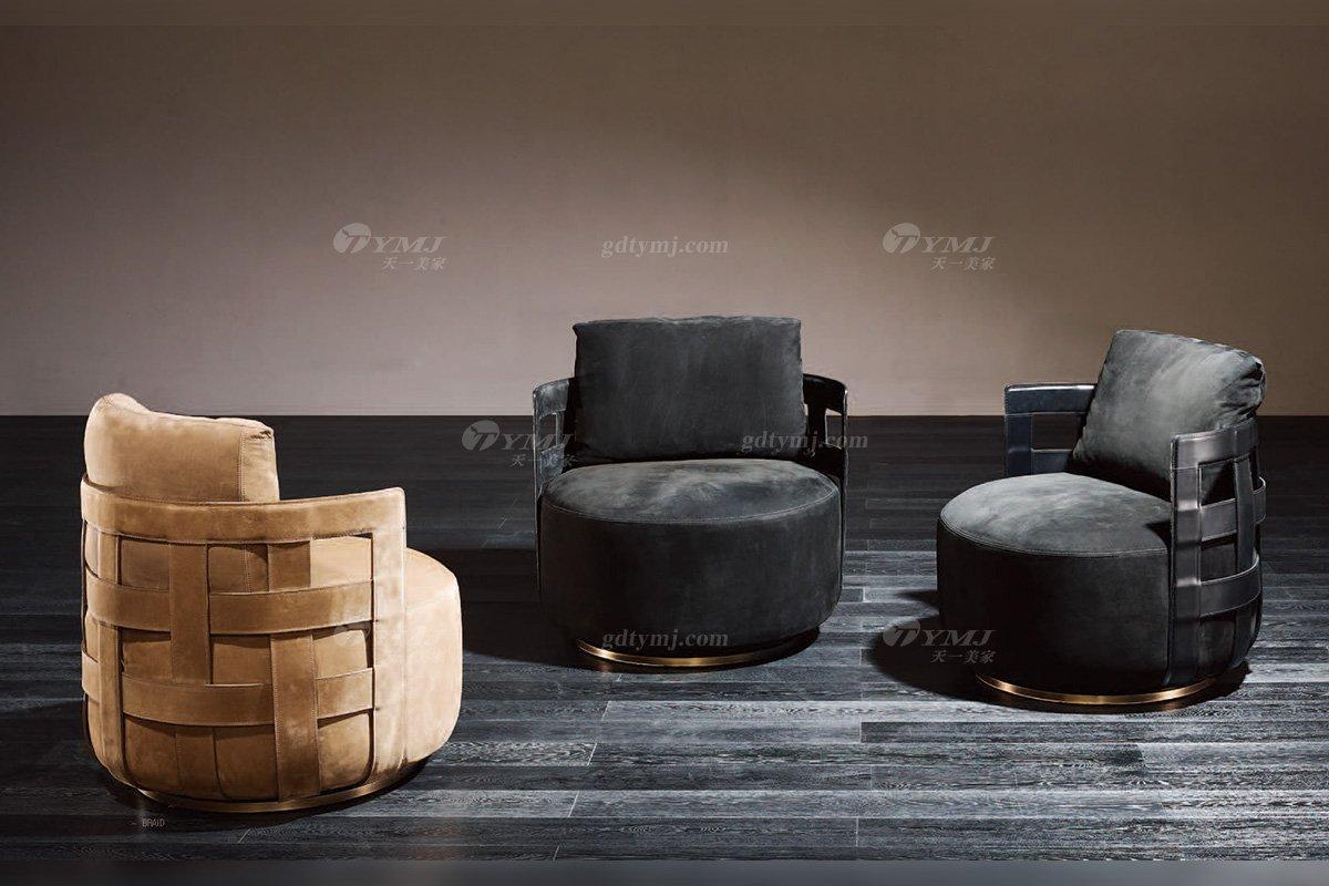 高端奢华意大利纯进口家具品牌时尚轻奢别墅家具五金布艺单位沙发系列