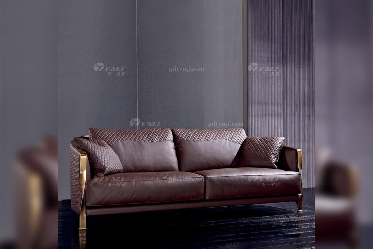 高端奢华意大利纯进口家具品牌时尚轻奢五金真皮沙发系列!