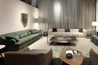 时尚轻奢家具意大利纯进口奢华品牌客厅真皮沙发组合系列
