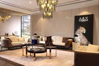 奢华别墅家具品牌高端样板间家具轻奢后现代客厅时尚头层皮沙发组合