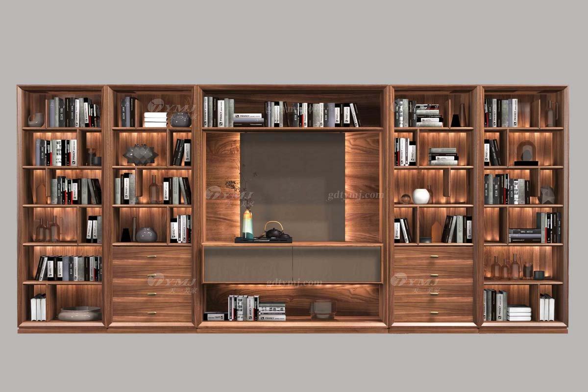 高端会所万博手机网页品牌奢华样板房万博手机网页轻奢新中式书柜