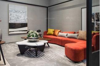 创意别墅会所家具品牌现代极简北欧客厅家具高弹高密度海绵优质布艺沙发系列