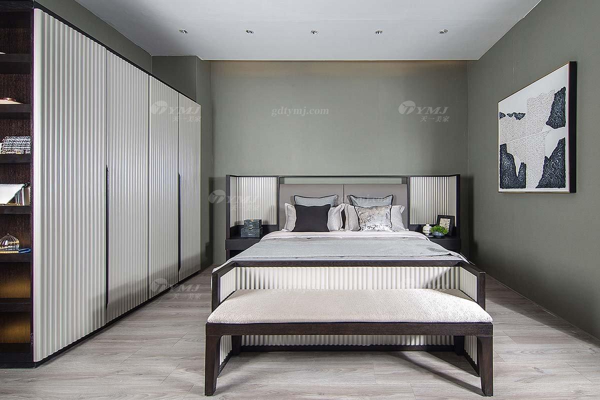 高端别墅会所家具品牌现代极简北欧卧室家具双人大床系列