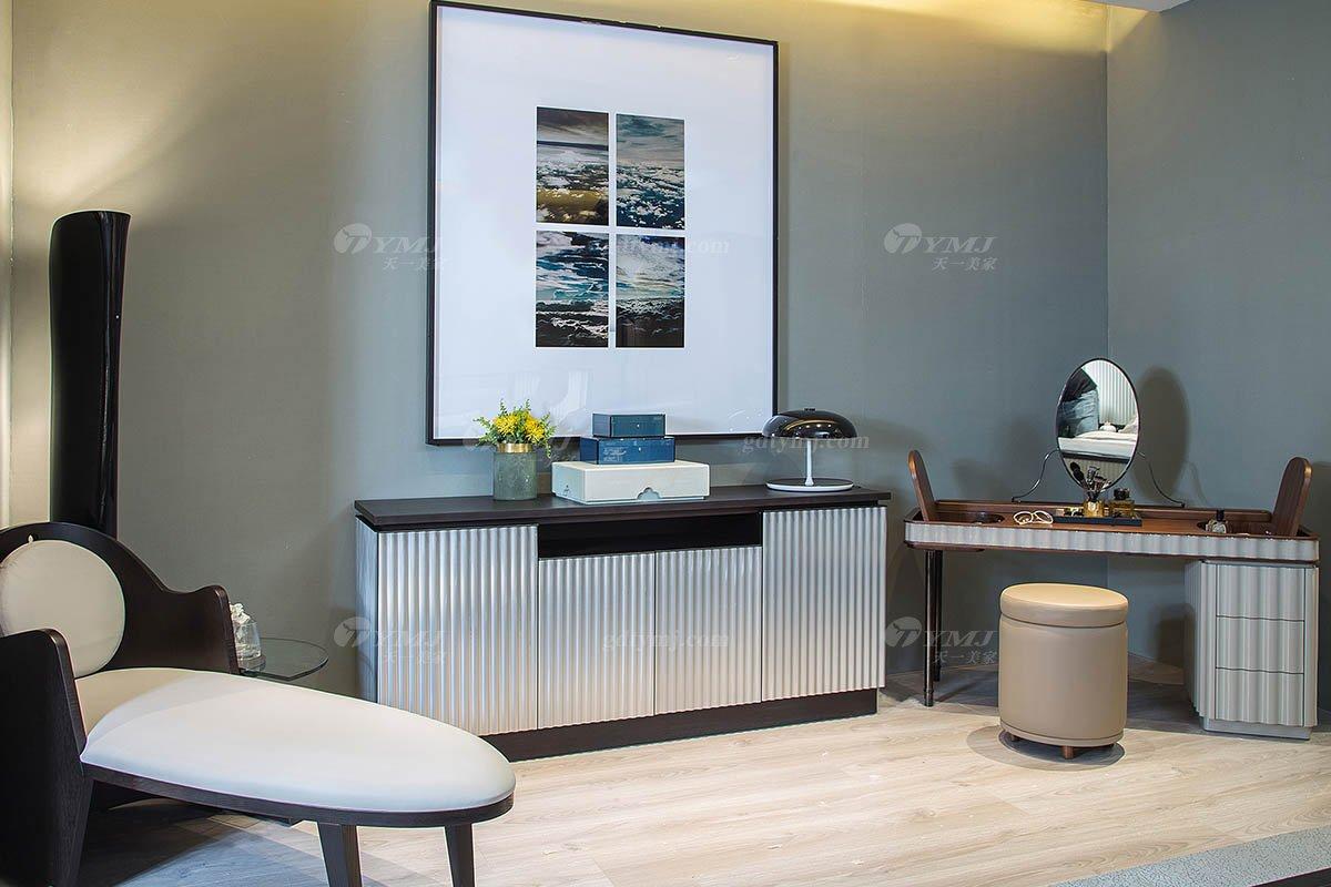 高端别墅会所家具品牌现代极简北欧创意餐边柜妆台系列