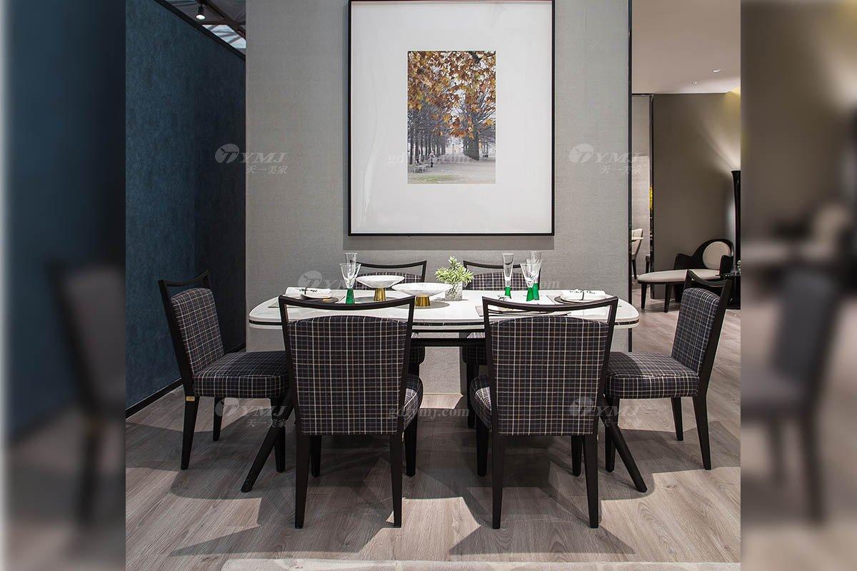 高端别墅会所家具品牌现代极简北欧餐厅家具创意大理石餐桌餐椅系列
