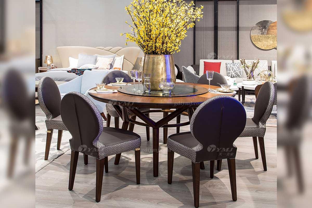 高端别墅会所家具品牌现代极简轻奢北欧餐厅家具创意餐桌餐椅系列