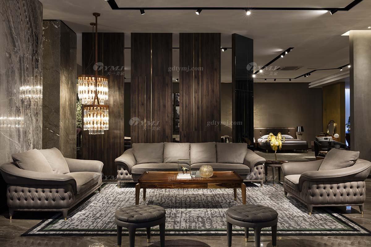 高端豪别墅会所豪宅家具品牌轻奢新中式风客厅高弹高密度海绵时尚沙发系列