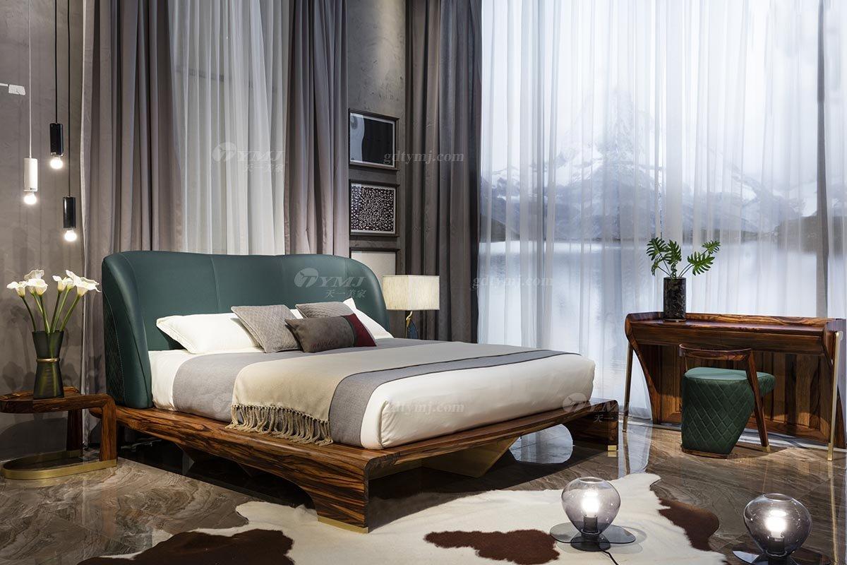 高端别墅会所家具品牌轻奢新中式风卧室家具实木床组合系列