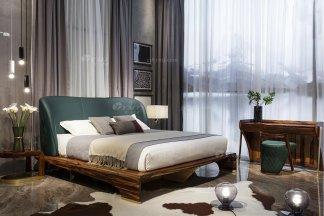 高端别墅会所万博手机网页品牌轻奢新中式风卧室万博手机网页实木床组合系列
