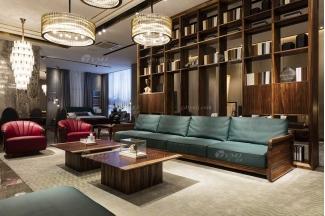 高端别墅会所万博手机网页品牌轻奢新中式客厅高品质实木万博手机网页沙发系列