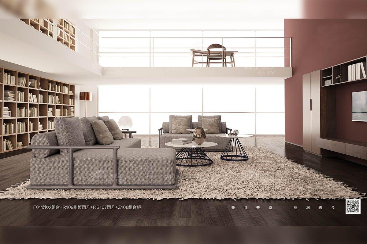 别墅会所家具品牌意大利极简风格休闲布艺转角沙发组合