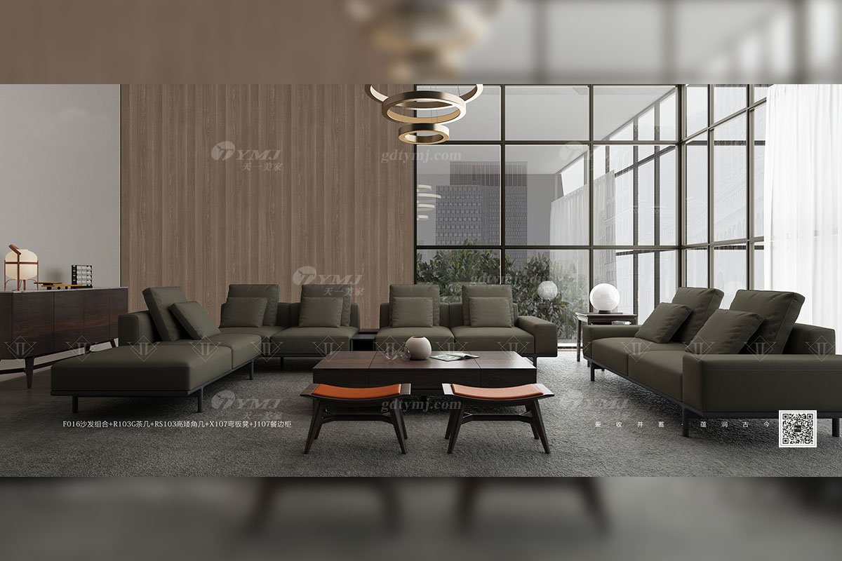 别墅会所家具品牌家用意大利极简家具客厅组合沙发