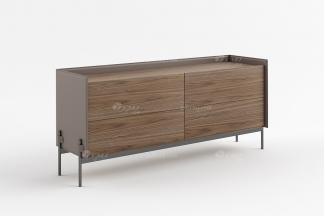 现代时尚轻奢高端别墅家具品牌餐厅北美黑胡桃实木餐边柜