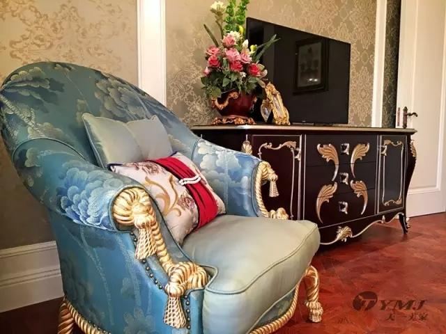 【天一美家案例】信陽錦江城E7-2-13號樓別墅-法式華貴樣板間